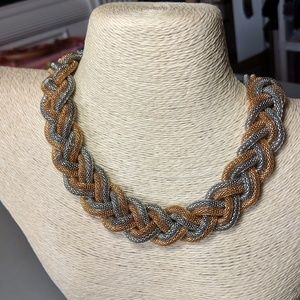 Jewelry - Silver & Gold Chainmail Choker